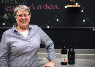 Brenda Spencer, Owner at Main West U Brew Wines, with some of her favourite wine blends!
